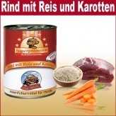 800 g Super Premium wet food can of beef with rice and carrots