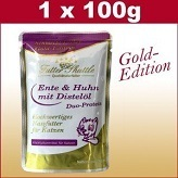 100 g Cats Wet Food Gold Edition in Fresh Bag with Duck & Chicken Pure