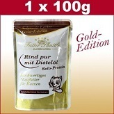 100 g cats wet food Gold Edition in the fresh bag with beef Pure