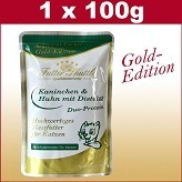 100 g Cats Wet Food Gold Edition in Fresh Bag with Rabbit & Chicken Pure