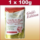 100 g Cats Wet Food Gold Edition in Fresh Bag with Salmon & Chicken Pure