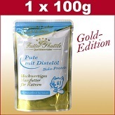 100 g cats Wet food Gold Edition in the fresh bag with turkey Pur